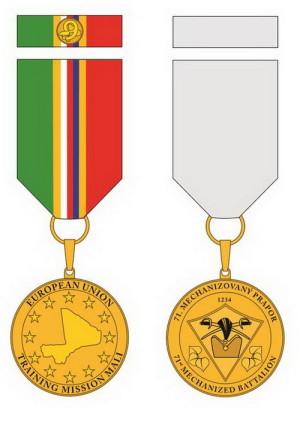 Pamětní odznak 9. jednotky mise EU-TM v Mali.