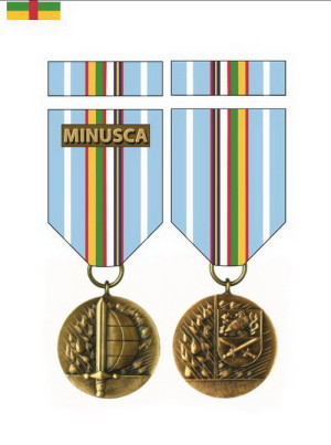 Medaile Ministra obrany České republiky Za službu v zahraničí – MINUSCA.