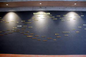 Stěna se jmény zavražděných nacisty