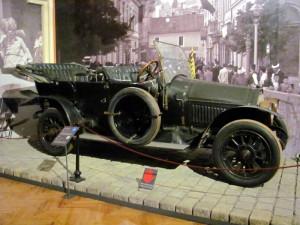 Automobil, v němž jel v Sarajevu následník trůnu František Ferdinad d´Este. Foto Ivo Pejčoch