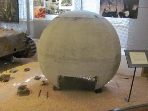 Miniaturní kulový bunkr. Foto Ivo Pejčoch