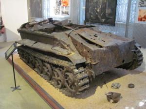 Nosič náloží Borgward IV byl pouze zakonzervován v nálezovém stavu. Foto Ivo Pejčoch