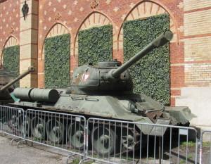 Sovětský tank T-34/85 v rakouských barvách. Foto Ivo Pejčoch