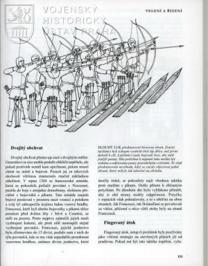 Ukázka kapitoly věnované velení a řízení vojska ve středověku.