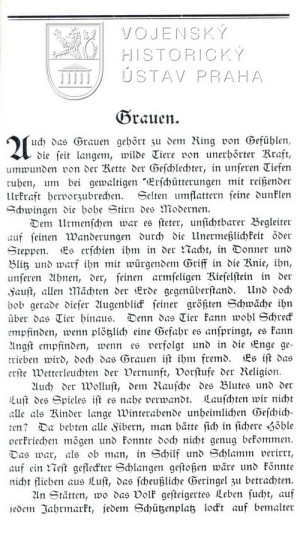 Začátek II. kapitoly Grauen (Hrůzy).