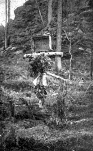 Původní podoba jednoho z hrobů padlých vojáků 7. roty 7. čs. střeleckého pluku, padlých v boji proti bolševikům nad Kultukem. Foto: VHÚ