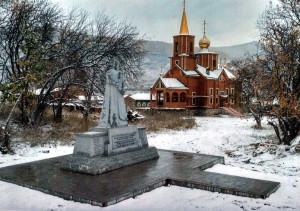 Obnovený náhrobek v Kultuku v zimě 2016.  Foto: MO ČR