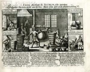 Příprava ledku pro výrobu střelného prachu – 1724.