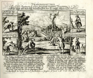 Použití trigonometrie zeměměřiči – 1726.