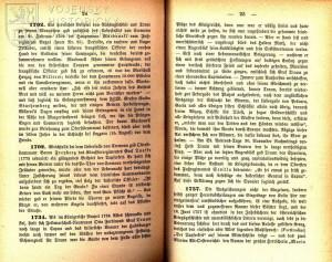 Ukázka závěrečného výběru hrdinských činů z konfliktů první poloviny 18. století.