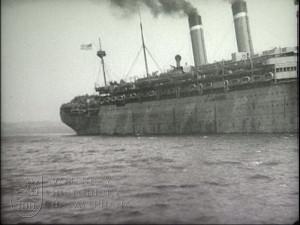 Film čs. legie v Rusku – Vladivostok, loď America, loď President Grant (šot č. 1326)
