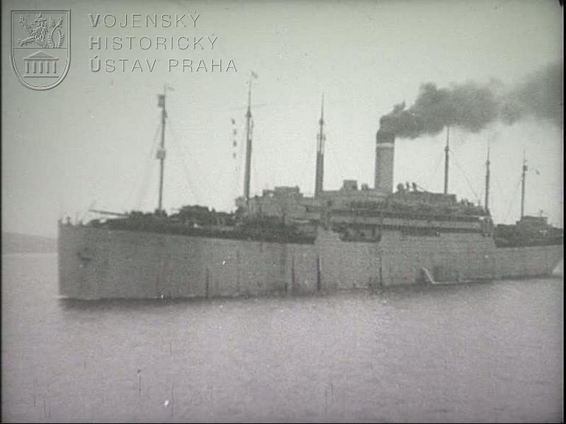 """Film """"čs. legie v Rusku – Vladivostok, loď America, loď President Grant (šot č. 1326)"""""""