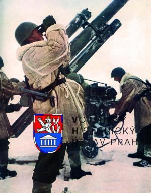 Zimní výcvik protiletadlových dělostřelců. Foto sbírka VHÚ.