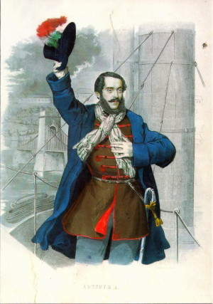 Lajos Kossuth de Udvard et Kossuthfalva, vůdce uherské revoluce