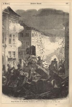 Berlínská revoluce, noc z 18. na 19. března.