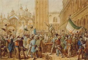 Vyhlášení republiky svatého Marka v Benátkách 22. března 1848