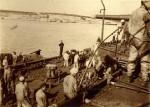 Rakousko-uherští námořníci při nakládání uhlí