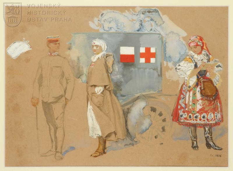 František Kupka, Návrhy stejnokrojů pro čs. armádu ve Francii, 1918