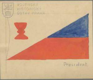 Jaroslav Jareš, Návrhy státní vlajky Československé republiky a prezidentské vlajky, 1919.