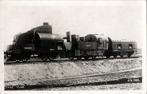 Snímek z roku 1930 zachycuje československý pancéřový vlak číslo 1.