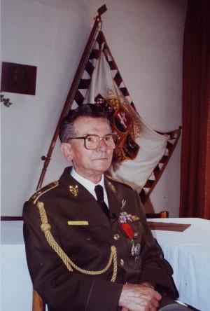 Antonín Špaček jako předseda Československé obce legionářské