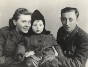 Se svojí ženou Štěpou a synem Ludvíkem