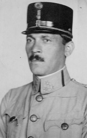 Bedřich Albrecht jako rakouský důstojník