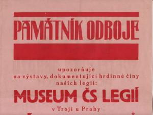 Plakát, jenž upozorňoval veřejnost na jednu z příležitostných výstav Památníku odboje. FOTO: VÚA‒VHA