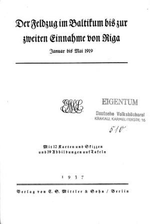 Titulní list s razítkem Deutsche Volksbibliothek.