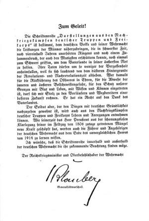 Úvod maršála Blomberga.