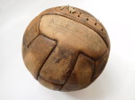 Fotbalový míč ze zápasu Inter Allied Army v. British Army