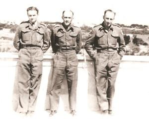 Výsadek CHROMIUM, uprostřed velitel Václav Knotek, Itálie 1945.