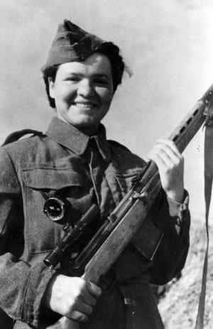 Marie Ljalková (později Lastovecká) v roce 1943
