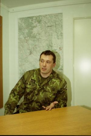 Aleš Opata během svého působení v misi KFOR.