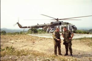 Aleš Opata během svého působení v misi SFOR.