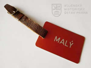 Štítek na zavazadlo Františka Malého