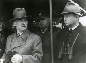 Edvard Beneš, prezident republiky a František Machník, ministr národní obrany. FOTO: VÚA‒VHA