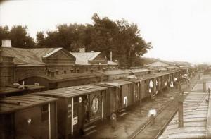 Život československého sboru v železničních vagónech v Rusku kladl velké nároky na hygienu a lékařskou péči (Foto VHA)