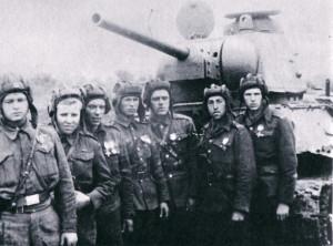 Příslušníci tankového praporu
