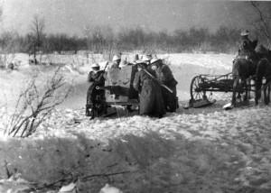 Z lednové cvičení před odjezdem na frontu v roce 1943