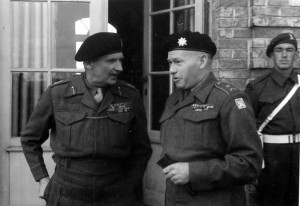 Generál Liška a maršál Montgomery 18. března 1945