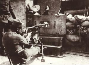 Snímek z bojů na Slovensku