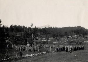 Polní mše na italské frontě, 4. říjen 1916