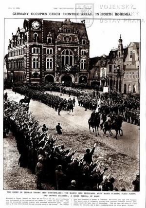 Vstup německých vojsk do Frýdlantu.