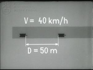 Zásady pro stanovení rychlosti jízdy a vzdálenosti mezi vozidly za pochodu