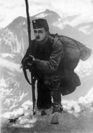 František Noha v zimě 1914 v Karpatech