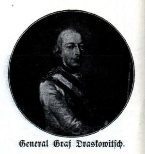 Polní podmaršál Josip Kazimír hrabě Drašković von Trakošćan, velitel pěchoty v obležené pevnosti