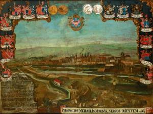 Obraz obléhání Olomouce zhotovený pro Olomouckou radnici zachycuje erby nobilitovaných měšťanů a avers i revers pamětních medailí