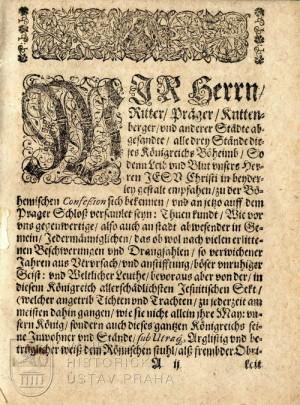 Začátek textu německé verze Apologie.