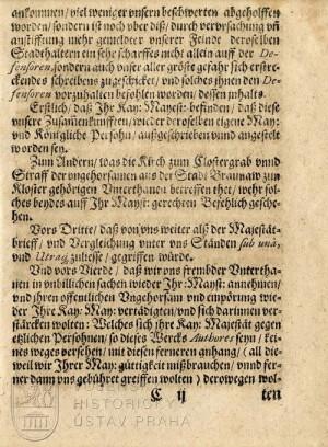 """Vyložení obsahu """"těžkého psaní"""" císaře Matyáše."""